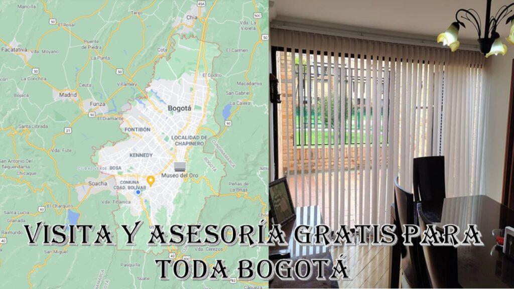 persianas en Bogotá visita y asesoría